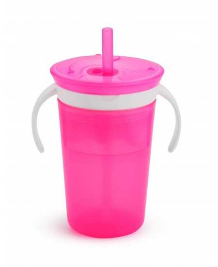 Munchkin Snack and Sip Cup Pink 11086