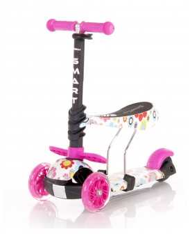Lorelli Πατίνι Smart Scooter με κάθισμα Pink Flowers 10390020001